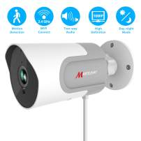 Outdoor WiFi Security Camera, Marceloant 1080P Wireless Home Surveillance Bullet Camera, IP66 Waterproof, Support 2 Way Audio Talk, Night Vision, Motion Detection, Cloud Storage Service