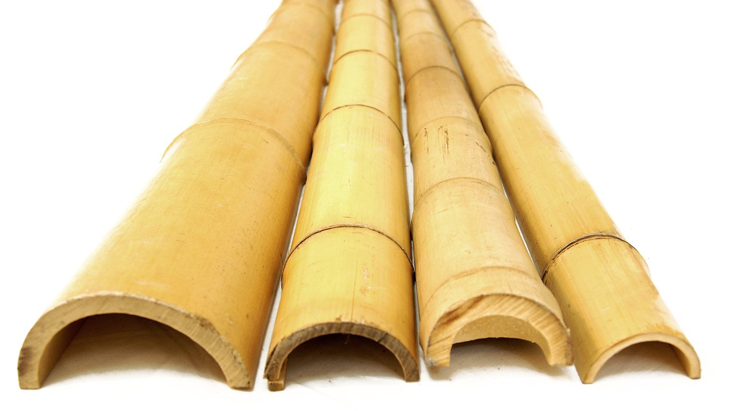 Forever Bamboo 91-N281 Bamboo Poles Half Rounds 2in D x 8in L