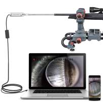 Teslong Rigid Rifle Borescope, 0.2 Inch Gun Barrel Bore Scope Camera with 26inch Rod, Side-View Mirror, Works with Windows, MacBook and Android Smart Phones