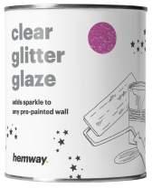 Hemway Clear Glitter Paint Glaze (Lavender) 1L / Quart for Pre-Painted Walls Acrylic, Latex, Emulsion, Ceiling, Wood, Varnish, Dead Flat, Matte, Soft Sheen, Silk (Choice of 25 Glitter Colours)