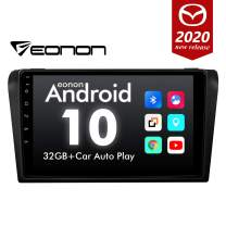 2020 Double Din Car Stereo, Eonon Android10 Car Radio 9 Inch IPS Full Touchscreen Head Unit Fit Mazda 3 2004-2009 Support Carplay/Android Auto/Bluetooth 4.0/Fast Boot/DVR/OBDII-GA9451B