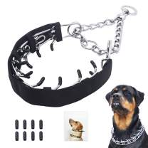 Mayerzon Dog Prong Training Collar with Comfort Tips and Protector, Classic Stainless Steel Choke Pinch Collar, Martingale Collar for Dogs