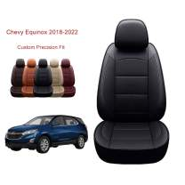 OASIS AUTO 2018 2019 Equinox Custom Fit PU Leather Seat Covers Full Set Compatible with Chevrolet Equinox 2018 2019 Equinox (2018-2019 Equinox, Black)