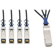 TRIPP LITE 40GbE QSFP+ to 10GbE SFP+ Passive Copper Breakout Cable 3M, 10' (N281-03M-BK)