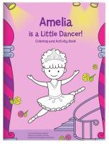 Coloring Book for Kids Toddlers Children Girls, Personalized Custom Name, Ballerina Dancer