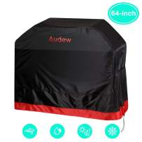 Audew BBQ Grill Cover,64-inch 210D Oxford Grill Cover for All Weather Protections, Waterproof/UV and Fade Resistant/Dust-Proof/Rip-Proof,Fits Most Brands Weber,Char Broil,Holland, Jenn Air,Brinkmann