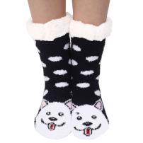 Marlong Womens Warm Soft Cute Cartoon Animals fuzzy Cozy Non-Slip Winter Indoor Slipper Socks