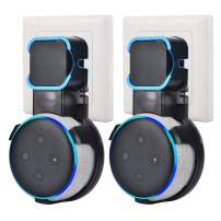 Dot Mount Holder Hanger for Smart Home Speaker 3rd Gen for Dot 3rd Generation & Huawai Smart [2 Pack]- [Transparent Black ]