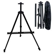 Hosim Stand Bracket Tripod Display Stand Triangular Easel for LED Flashing Illuminated Lighted Writing Board Whiteboard Chalkboard Posters Paintings Wedding Birthday Party (Carrying Bag Included)