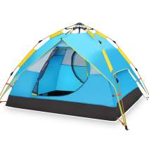 Hewolf Camping Tent Instant Setup - Waterproof Lightweight Pop up Dome Tent Easy up Fast Pitch Tent Great for Beach Backpacking Hiking