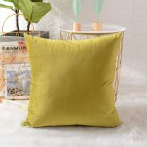 MERNETTE Velvet Soft Decorative Square Throw Pillow Cover Cushion Covers Pillow case, Farmhouse Home Decor Decorations for Sofa Couch Bed Chair 24x24 Inch/60x60 cm (Olive Green Yellowish)