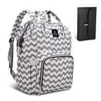 HEYI Diaper Bag Backpack Travel Large Spacious Tote Shoulder Bag Organizer (Chevron)