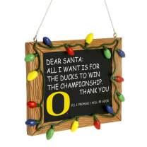 FOCO NCAA Oregon Ducks College Team Logo Holiday Christmas Resin Chalkboard OrnamentCollege Team Logo Holiday Christmas Resin Chalkboard Ornament, Team Color, One Size