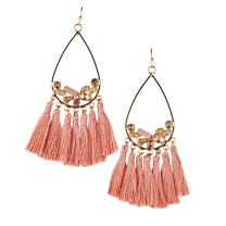 LuckyLy Tassel Earrings for Women Bronze, Fashion Statement Long Earrings Swarovski (style) with Crystals, Original Gifts for Women, Presents for Girlfriend