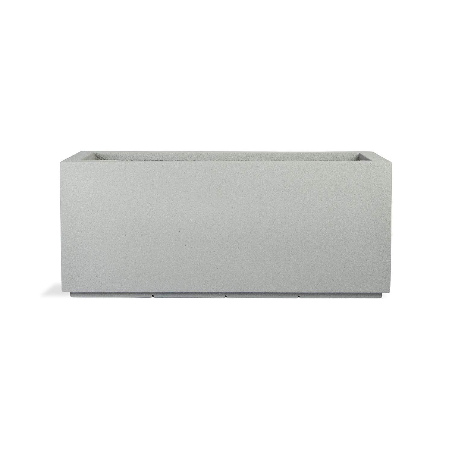 """PolyStone Milan Tall Modern Outdoor/Indoor Rectangular Trough Planter, Lightweight, Heavy Duty, Weather Resistant, Polymer Finish, Commercial and Residential, 46"""" W x 19"""" H (Concrete Gray)"""