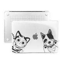 """IC ICLOVER MacBook Pro Retina 13"""" Case, [Cat & Dog Series] Unique Cartoon Pet Design Ultra Slim Light Glossy Protective Hard Case Cover for MacBook Pro 13.3"""" Without CD ROM (A1502/A1425) - Crystal"""
