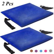 YGYQZ Memory Foam Seat Cushion, 2Pcs Thickening Car Seat/Office Chair/Dining Chairs/Wheelchair/Kitchen Chair Blue Seat Cushion with Over-Soft Pile Fabric for Hard Surface Relieve Numbness(2pcs Blue)