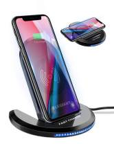 ELEGIANT Wireless Charger, 10W Qi-Certified Wireless Charging Stand 0 to 90 Degrees Adjustable Compatible with iPhone 11/11 Pro Max/XR/XS MAX/XS/X/8/8 Plus, Galaxy S20/S10/S9/S8/S7 Edge/Note 10+/9/8