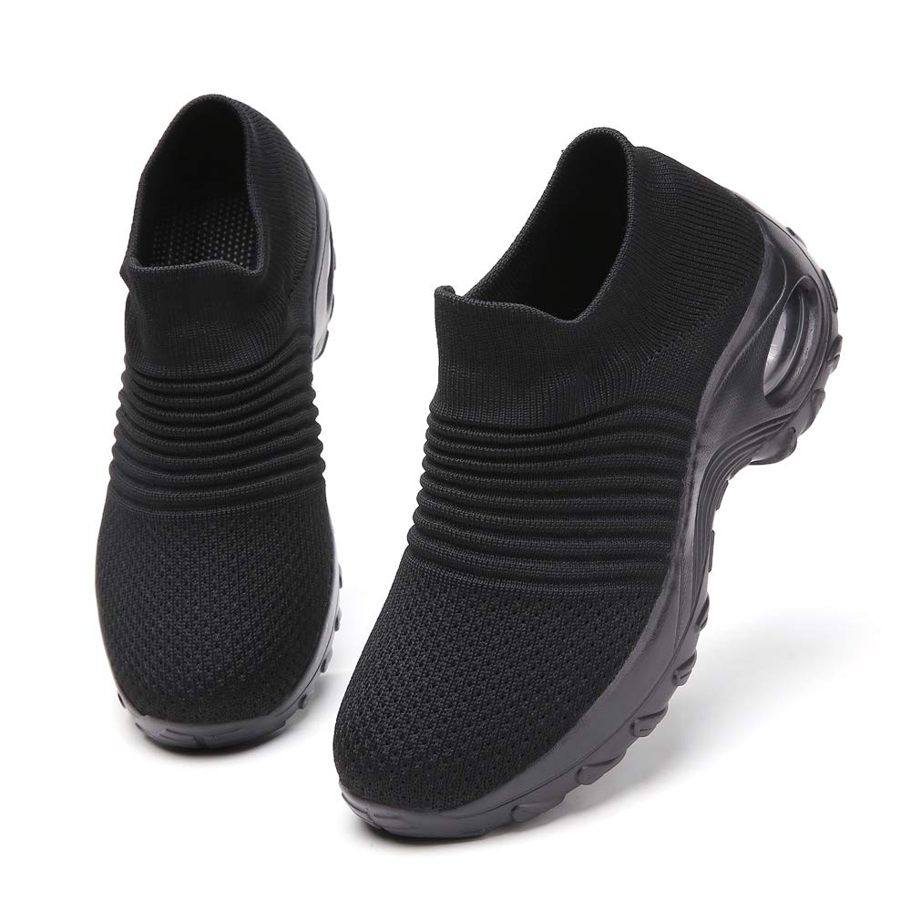 Ezkrwxn Women Athletic Walking Shoes Sock Fashion Sneakers Breathable Comfort Slip on Sports Trail Running Shoes