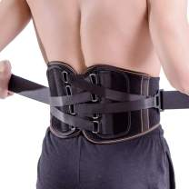 King of Kings Lower Back Brace Pain Relief with Pulley System - Lumbar Support Belt for Women and Men - Adjustable Waist Straps for Sciatica, Spinal Stenosis, Scoliosis or Herniated Disc - Small