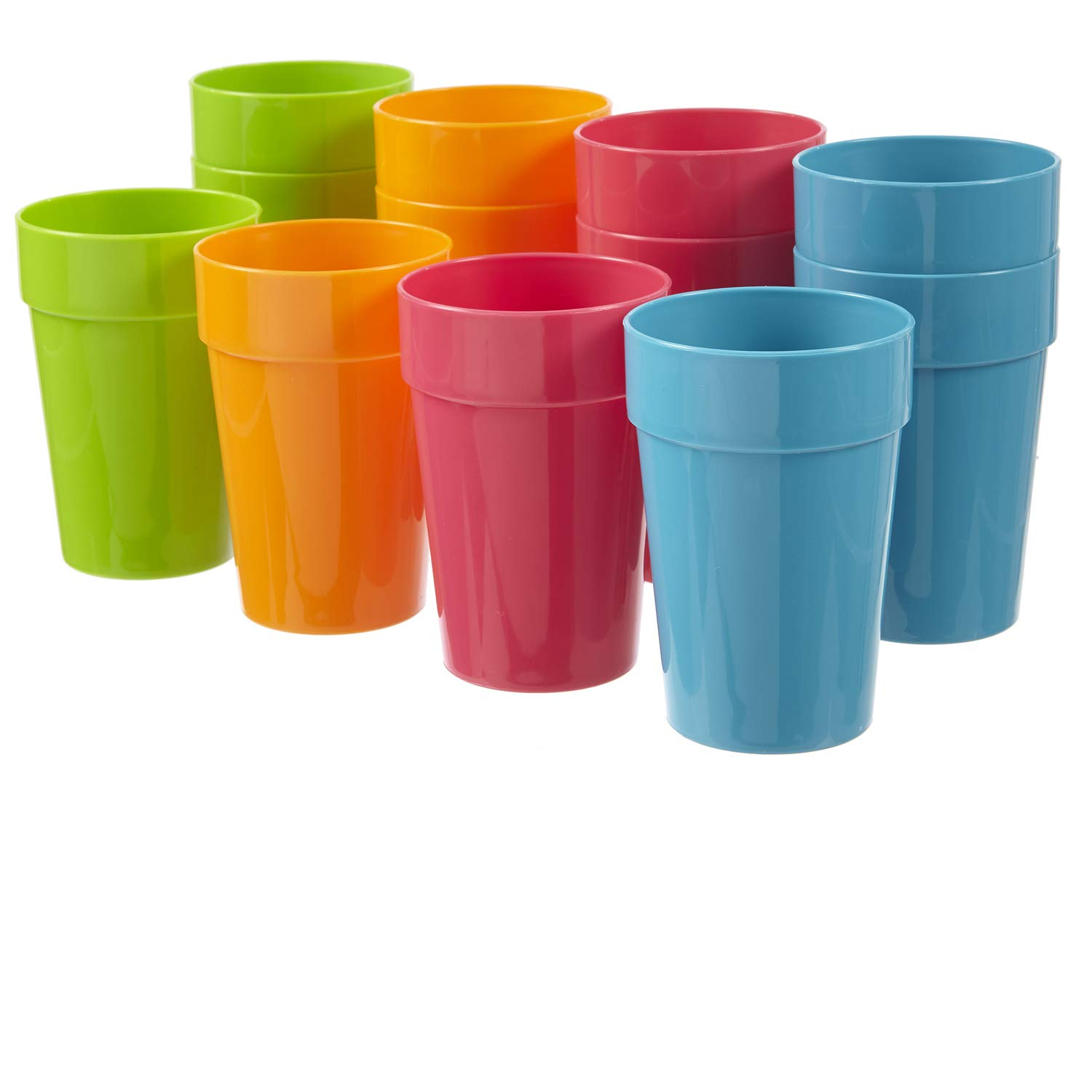Harmony 10-ounce Juice Cups | set of 12 in 4 Calypso Colors
