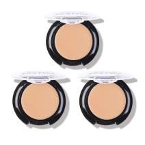3 Pack Full Coverage Concealer Cream Makeup, Waterproof Matte Smooth Concealer Corrector for Dark Spot Under Eye Circles, 18g/0.6Oz (#30 Light Natural)