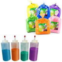 Color Powder for 20-25 People by Chameleon Colors, 30 Pounds, 5 Pound 6 Pack, Bundled With 4 Refillable Color Squeeze Bottles, 6 Color Packs for Summer Fun, Holi Accessories, Holi Powder for Color Fun