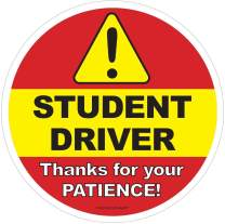 6 Pack: Student Driver Car Window Decal | Be Patient Beginner New Driver Driving Ed Removable Sticker | Caution Beware Learners Permit Rookie SUV Sign