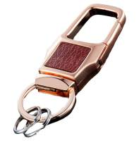 Olivery Keychain with 2 Key Rings, Stainless Steel Key Chain in Gift Box, Trendy Rose Gold Color. The Perfect Combination of Luxury, Fashion & Elegance - Will Never Rust, Bend or Break