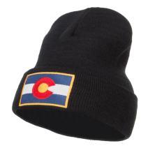 e4Hats.com Colorado Flag Embroidered Long Beanie