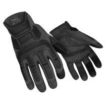RINGERS GLOVES 143-08 Glove, Impact Resistant, S, Black, Pr