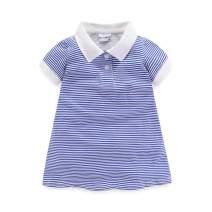 Mud Kingdom Little Girls Polo Shirt Short Sleeve Stripe Pattern