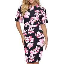Women Dresses Short Sleeve Cocktail Party Evening Bodycon Dress Beach Sundress for Summer