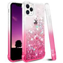 Ruky iPhone 11 Pro Max Case, Gradient Quicksand Series Glitter Flowing Liquid Floating Soft TPU Bumper Cushion Bling Luxury Girls Women Phone Case for iPhone 11 Pro Max (Gradient Pink)