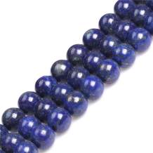 GEM-Inside Natural 14mm Lapis Lazuli Gemstone Loose Beads Crystal Energy Stone Power for Jewelry Making 15''