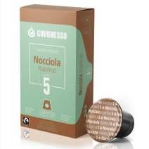 Gourmesso Soffio Nocciola (Hazelnut) - 30 Espresso Capsules Comptaible with Nespresso Machines 100% Fairtrade Coffee