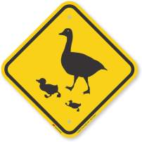 "SmartSign ""Ducks Crossing"" Sign | 12"" x 12"" 3M Engineer Grade Reflective Aluminum"