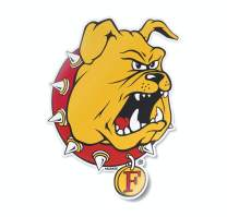 Ferris State University Bulldog Car Decal Premium Weatherproof Vinyl