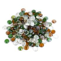 Stanbroil 10-Pound 1/2 Fire Glass Drops Blended Emerald Green, Crystal Ice, Caramel Luster for Indoor and Outdoor Gas Fire Pits and Fireplaces