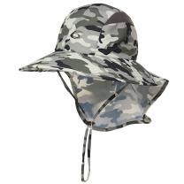 Summer Unisex Sun Hat for Women Men Fishing Outdoor Chin Strao Packable Camo