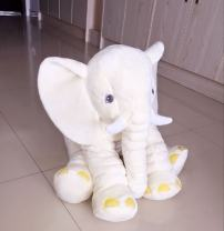 Kenmont Elephant Stuffed Plush Toy, Soft Toy, Elephant, Beige