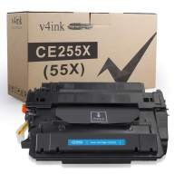 V4INK Compatible Toner Cartridge Replacement for HP 55X CE255X CE255A Toner High Yield for HP LaserJet P3010 P3011 P3015 P3015d P3015dn P3015n P3015x 500 MFP M521dn M521dw M525c M525dn M525f Printer