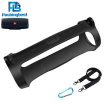 Pushingbest Carrying Case for JBL Charge 4 Speaker Durable Silicone Extra Carabiner and String Offered for Easy Carrying