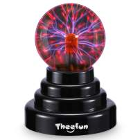 3 Inch Plasma Ball, Theefun Magic Touch Sensitive Plasma Lamp Nebula Sphere Globe Novelty Toy, USB Or Battery Powered for Parties, Decorations, Prop, Kids, Bedroom, Home