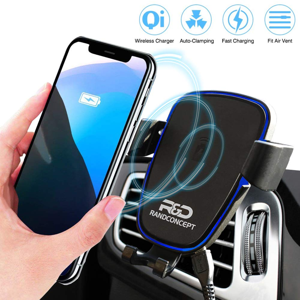 Car Mount Cell Phone and Tablet Mount (Wireless Charger)