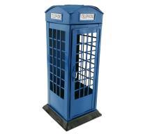 Vintage Iron London Telephone Booth Kiosk Saving Coins Money Box Piggy Bank for Kids Education Home Decoration Birthday