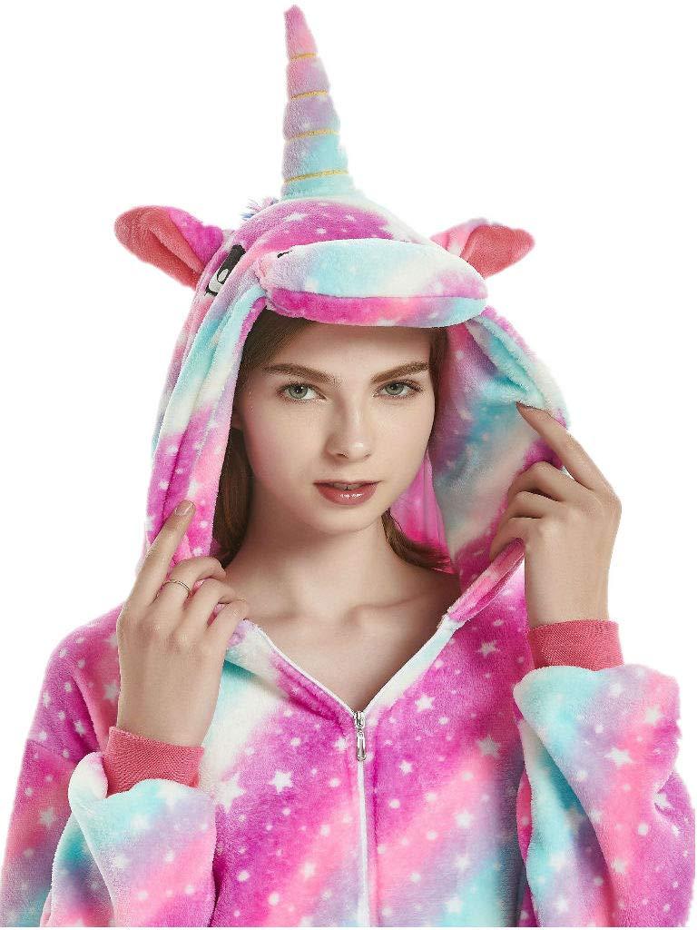 qqonsie Unicorn Onesie Adult Pajamas for Women Men Teens Onsie Pijama Costume Pj