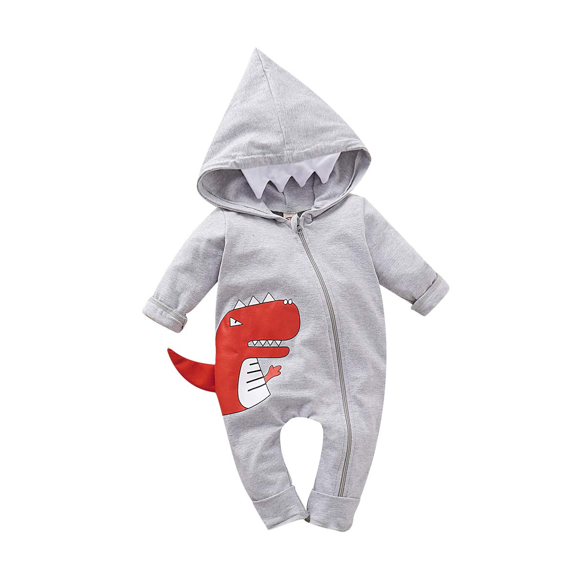 PROBABY Newborn Infant Baby Dinosaur Romper Jumpsuit Onesies Outfit for Boys Girls Hoodies Cute Dinosaur Bodysuit Outfits