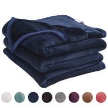 "LIANLAM Throw Size Fleece Blanket Lightweight Super Soft and All Season Warm Fuzzy Plush Cozy Luxury Bed Blankets Microfiber (Royal Blue, 43""x60"")"
