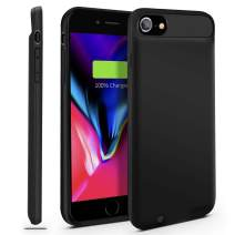 Gright iPhone 7/8 Battery Case, 3000mAh [Can Support Lightning to Lightning Earphone/Microphone] Ultra Slim Portable Charger iPhone 7 (4.7 inch) Charging Case (Black 4.7 inch)